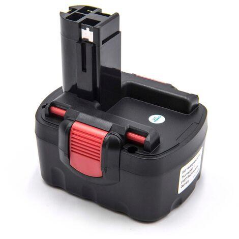 vhbw Batería compatible con Bosch 13614-2G, 14.4VE-2B, 1661K, 32614-2G, 33614-2G, 3454-01, 3454SB, 3660CK herramientas eléctricas (1500mAh NiMH 14,4V)
