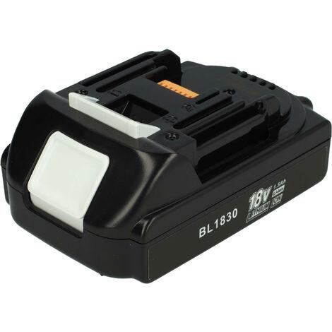 vhbw Batería compatible con Makita DHP458, DHP458RF3J, DHP458RMJ, DHP458RTJ, DHP458Z, DHP458ZJ ; herramientas eléctricas (1500mAh, 18V, Li-Ion)