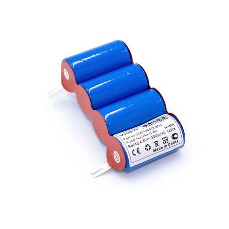 4.8V vhbw Bater/ía Ni-MH 3000mAh para Vileda AS-193E9A como 4SC3000.