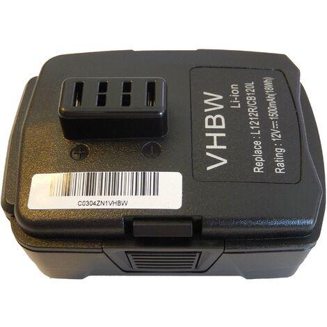 vhbw batería Li-Ion 1500mAh para herramientas Ryobi BID-1201, CAH120LK, CD100, CK212DA, CKF-120LM, CR-1201, CS-1201 y CB120L, BPL-1220, entre otras.