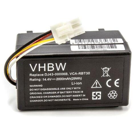 VR10F71UA como DJ43-00006B VCA-RBT30. vhbw Bater/ía Li-Ion 2600mAh para robot aspidador dom/éstico Samsung Navibot VR10F71 Pop-Out 14.4V