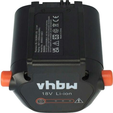 vhbw Batería Li-Ion 2500mAh (18V) para herramientas de jardín eléctricas Gardena Li-18/23 R recortadora a batería ComfortCut como 09840-20, BLi-18.