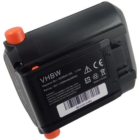 vhbw Batería Li-Ion 2500mAh (18V) para herramientas de jardín eléctricas Gardena Telescopic Accu Hedge Trimmer THS Li-18/42 como 09840-20, BLi-18.