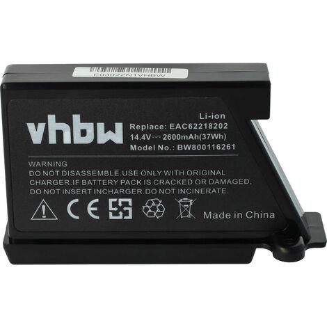 vhbw Batería Li-Ion 2600mAh (14.4V) para robot limpiasuelos robot autónomo de limpieza como LG EAC62218202
