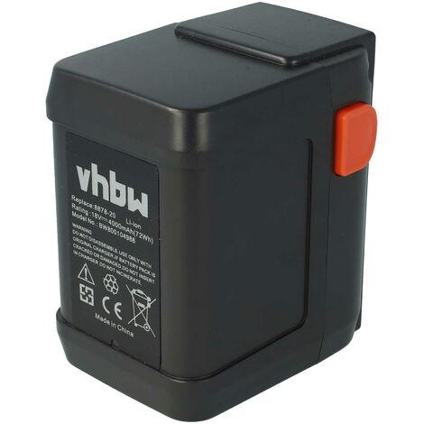 vhbw Batería Li-Ion 4000mAh (18V) para herramientas motosierra Gardena CST 2018-Li reemplaza 8835-U, 8835-20, 8839.
