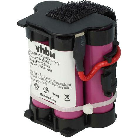 vhbw Batería li-on 2000mAh (18V) para robot cortacésped, robot de siega Gardena R70 Li, R70Li, R75 Li, R75Li