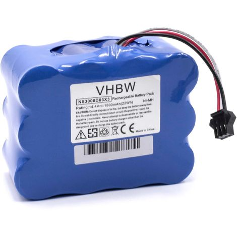 2000mAh, 18V, NiMH BBHMOVE4//02 BBHM1CMGB//01 BBHMOVE5//04 BBHMOVE5//03 BBHMOVE4//01 vhbw Bater/ía adecuada para Bosch BBHMOVE6//04