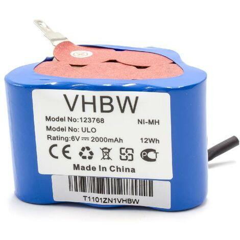 vhbw Batería (pack) compatible con Zündapp, Kreidler, DKW, KTM, Hercules, Puch (motocicletas con motor Sachs, controlador de carga Ulo Box 2000mAh)