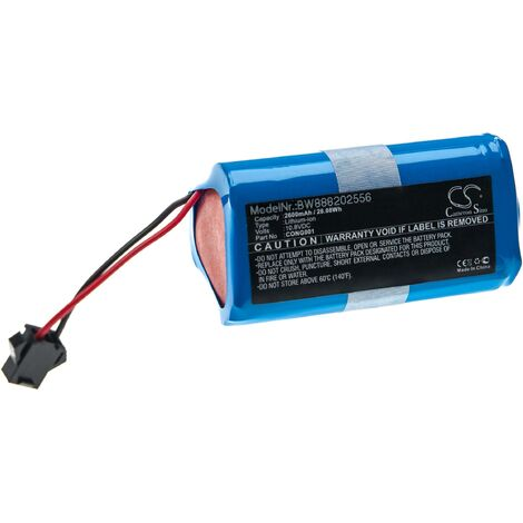 "main image of ""vhbw Batería recargable compatible con Cecotec Conga Slim Wet, Wet aspiradora, robot limpieza (2600 mAh, 10,8 V, Li-Ion)"""