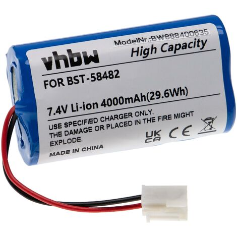 "main image of ""vhbw Batería recargable reemplaza Bestway BST-58482 para limpiador piscina (4000 mAh, 7,4 V, Li-Ion)"""