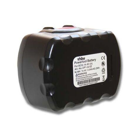 vhbw Batería reemplaza Bosch 2 607 335 275, 2 607 335 611, 2 607 335 619, 2 607 335 655 para herramientas eléctricas (3000mAh NiMH 14,4V)