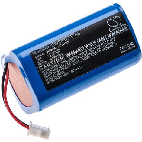 vhbw Batería reemplaza Cecotec CONG1002 para aspiradora, robot de limpieza (2600mAh, 14,4V, Li-Ion)