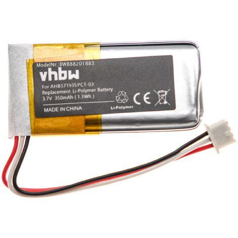 """main image of """"vhbw batería reemplaza Sennheiser 573695, 586477, AHB571935PCT-03, BAP800 para auriculares inalámbricos cascos (350mAh, 3,7V, polímero de litio)"""""""