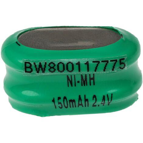 vhbw Baterías NiMH de botón de repuesto (2x celdas) Tipo 2/V150H 150mAh 2.4V compatible para construcción de maquetas, lámparas solares, etc.