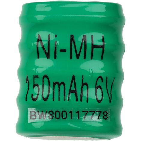 vhbw Baterías NiMH de botón de repuesto (5x celdas) Tipo 5/V150H 150mAh 6V compatible para construcción de maquetas, lámparas solares, etc.