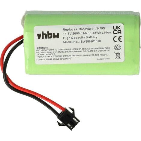 vhbw Li-Ion // LiFePo4 batteria 1400mAh 12.8V ME770 per robot aspirapolvere home cleaner Moneual ME590 MR6500 ME770 Style ME670 MEG7000MS