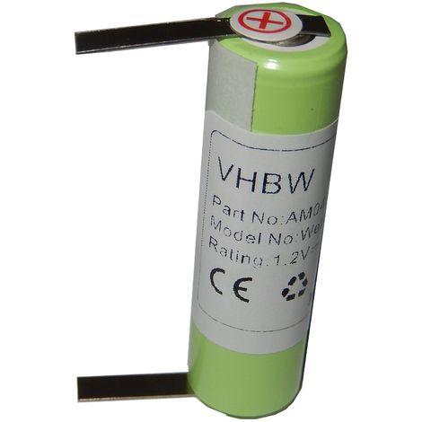 vhbw Batterie 2000mAh (1.2V) pour tondeuse à cheveux Wella Contura HS40 comme KR800 AAE, 1HR-AAC.