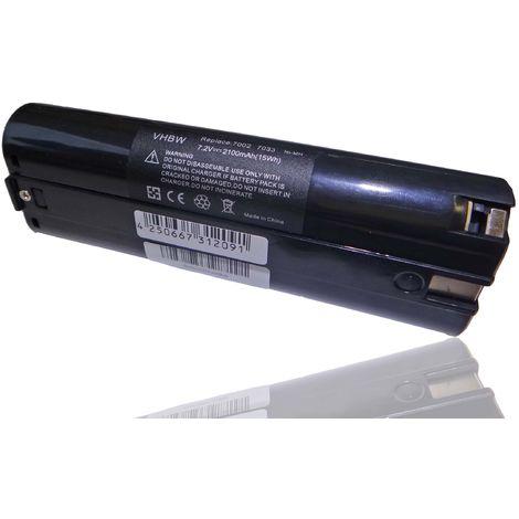 vhbw Batterie 2100mAh (7.2V) noir, pour EINHELL et MAKITA 3700D etc Remplace 191679-9, 192532-2, 192695-4, 632002-4, 632003-2, 7000, 7002, 7033, 91011