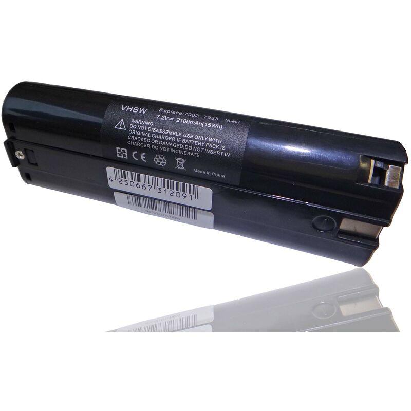 batterie 2100mAh (7.2V) pour outil Mikrofyn Mikrolaser ML-14i, ML-15i, ML-2, ML-23, ML-24, ML-2H. - Vhbw