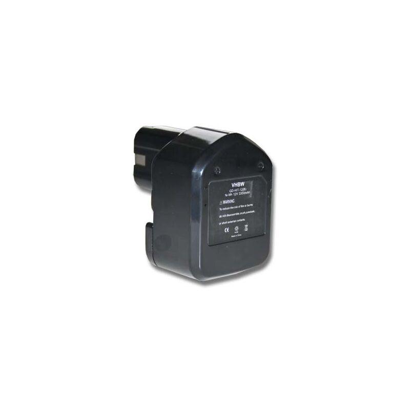 vhbw Batterie 3300mAh pour outil Hitachi C 5D, C5D, CD 4D, CD4D, CL 13D, CL13D, DB 12DM2, DB12DM2, WH 12DAF comme 324362, EB1212S, EB1214L, EB1214S.