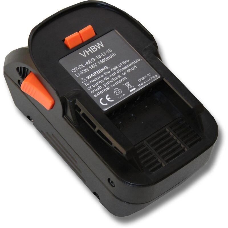 vhbw Batterie compatible avec AEG BS 18G, BSB 18, BSB 18 C, BSB 18 G, BSB 18 LI, BSB 18 STX, BSS 18C outil électrique (1500mAh Li-Ion 18V)