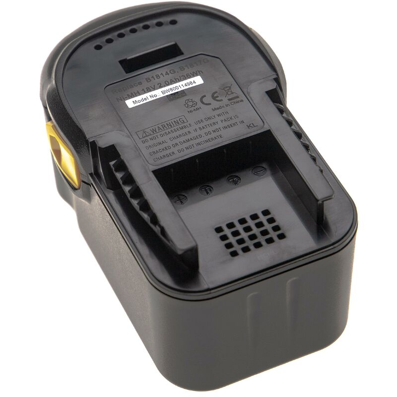 vhbw Batterie compatible avec AEG BSB 18 STX, BSS 18C, BST 18X, BUS 18, BUS 18 X outil électrique (2000mAh NiMH 18V)