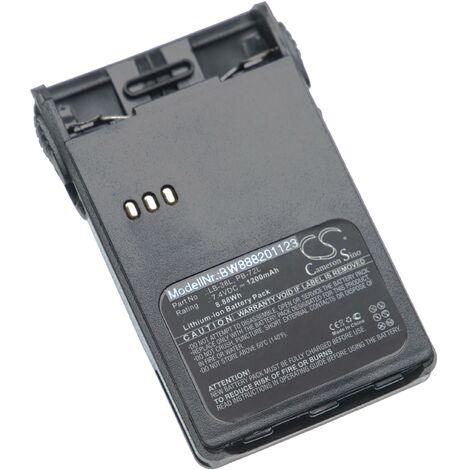 vhbw batterie compatible avec Baojie BJUV22 radio talkie-walkie (1200mAh, 7.4V, Li-Ion) + clip