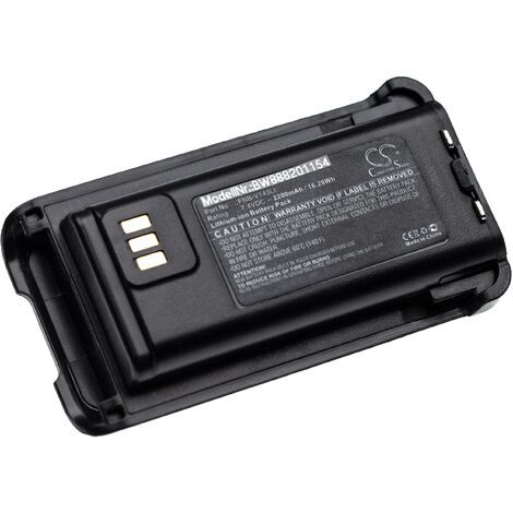 vhbw batterie compatible avec Bearcom BC250D radio talkie-walkie (2200mAh, 7,4V, Li-Ion)