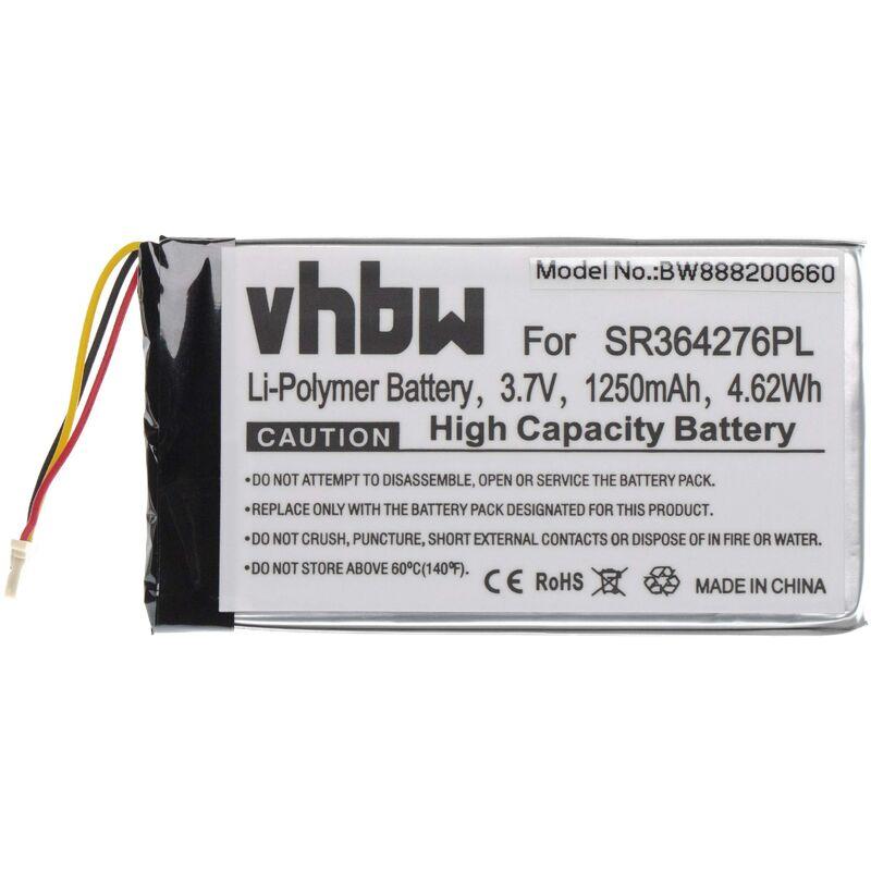 batterie compatible avec Becker Active.5 LMU, BE B10, BE B20, BE B60, Professional.5 LMU, Ready.5 LMU système de navigation GPS (1250mAh, 3.7V) - Vhbw