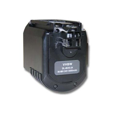 vhbw Batterie compatible avec Bosch 0 611 260 539, 11225VSR, 11225VSRH, BTI BHE 24VRE, GBH 24VFR outil électrique (3000mAh NiMH 24 V)