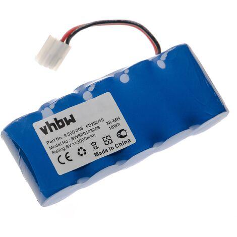 vhbw Batterie compatible avec Bosch Rollfix D861E, D963P motorisation de volet, porte, portail (3000mAh, 6V, NiMH)