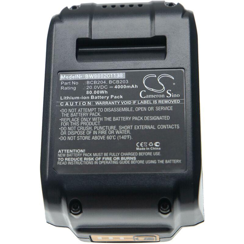 vhbw Batterie compatible avec Bostitch 16 GA Straight Finish Nailer Kit, 18 GA Brad Nailer Kit outil électrique (4000mAh Li-Ion 20V)