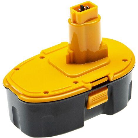 vhbw Batterie compatible avec Dewalt DC628K, DC668KA, DC720KA, DC721KA, DC721KB, DC725KA outil électrique (4000mAh NiMH 18 V)