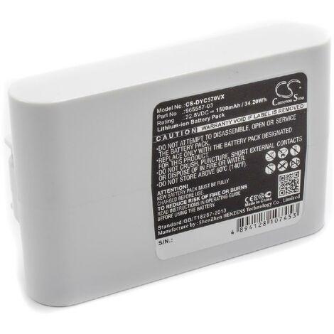 vhbw Batterie compatible avec Dyson DC45 Animal Pro, DC56, DC57 aspirateur, robot électroménager (1500mAh, 22,2V, Li-ion)
