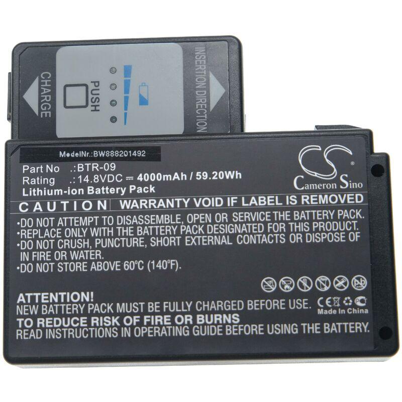 vhbw batterie compatible avec Fujikura FSM-601S, FSM-602S, FSM-61S, FSM-62S, FSM-702R, FSM-70R soudeuse (4000mAh, 14,8V, Li-Ion)