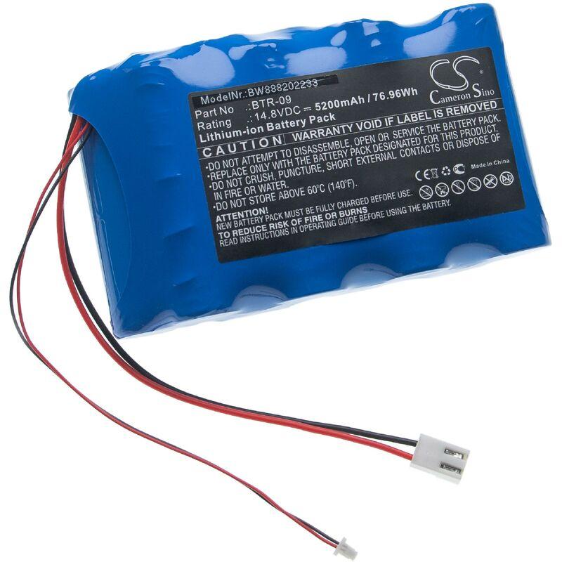 vhbw Batterie compatible avec Fujikura FSM-601S, FSM-602S, FSM-61S, FSM-62S, FSM-702R outil de mesure (5200mAh, 14,8V, Li-ion)