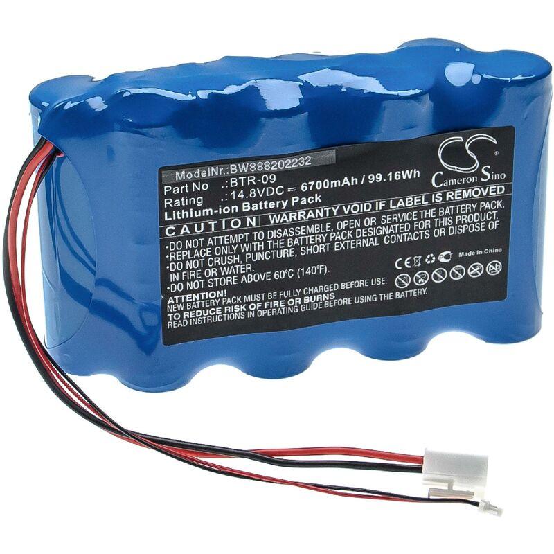 Batterie compatible avec Fujikura FSM-601S, FSM-602S, FSM-61S, FSM-62S, FSM-702R outil de mesure (6700mAh, 14,8V, Li-ion) - Vhbw