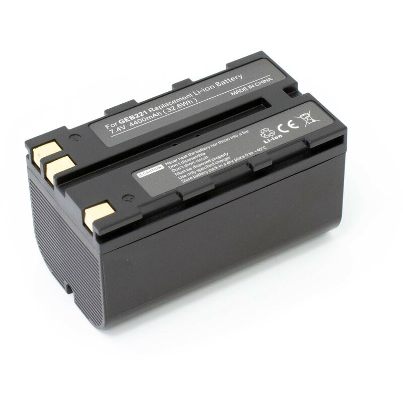vhbw Batterie compatible avec Leica Flexline TS02, TS06, TS09 dispositif de mesure laser, outil de mesure (4400mAh, 7,4V, Li-ion)