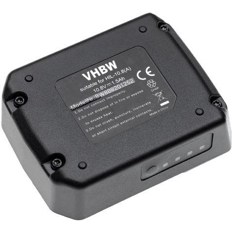 vhbw batterie compatible avec Hilti PR 30-HVSG A12, SF 2-A, SF 2H-A, SFD 2-A, SID 2-A, SL 2-A12 outil électrique (1500mAh Li-Ion 10,8V)