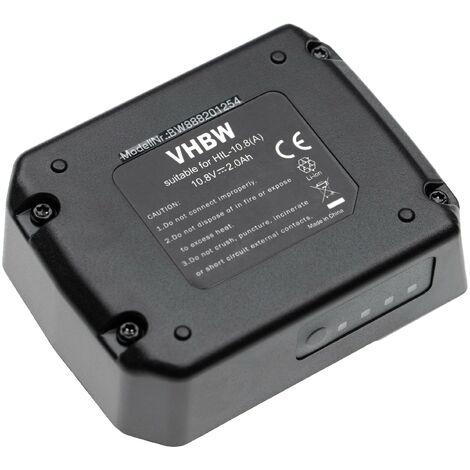 vhbw Batterie compatible avec Hilti SF 2-A12, SF 2H-A12, SFD 2-A12, SFE 2-A12, SID 2-A12 outil électrique (2000mAh Li-ion 10,8V)