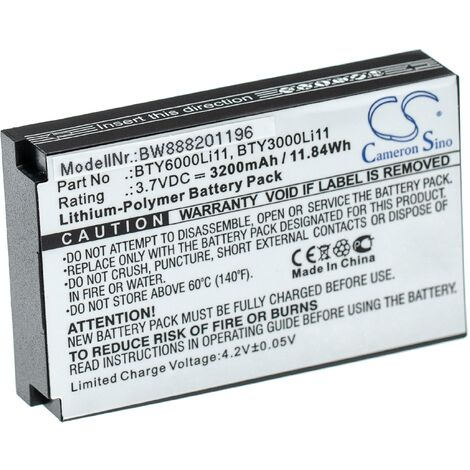 vhbw batterie compatible avec Huawei EP680 radio talkie-walkie (3200mAh, 3,7V, Li-Polymère)