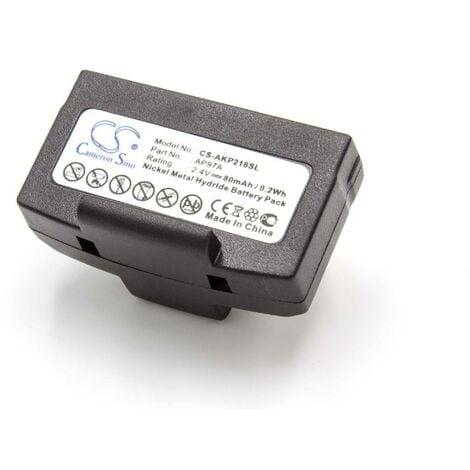 vhbw Batterie compatible avec Humantechnik RadioLight DIR, RadioLight LR casque audio, écouteurs sans fil (80mAh, 2,4V, NiMH)