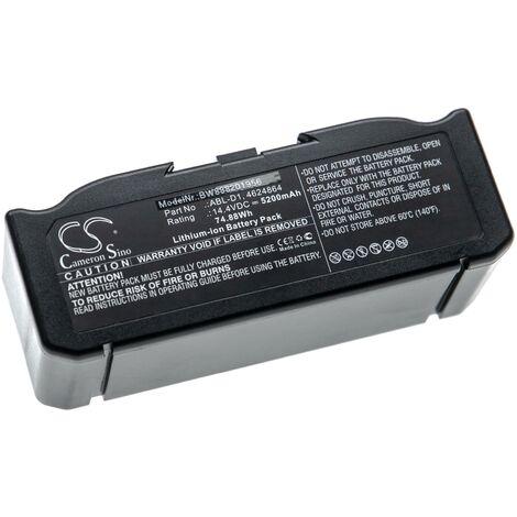 vhbw Batterie compatible avec iRobot Roomba e5152, e5154, e5158, e515840, E6, e6198 robot électroménager (5200mAh, 14,4V, Li-ion)