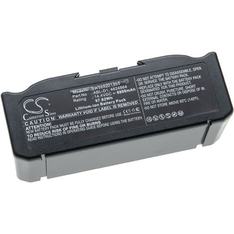 vhbw Batterie compatible avec iRobot Roomba e5152, e5154, e5158, e515840, E6, e6198 robot électroménager (6800mAh, 14,4V, Li-ion)