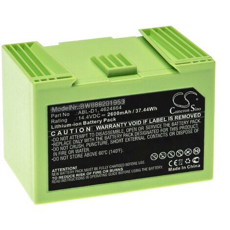 vhbw Batterie compatible avec iRobot Roomba e619820, i3, i31502F, i4, i7, i7+ robot électroménager (2600mAh, 14,4V, Li-ion)