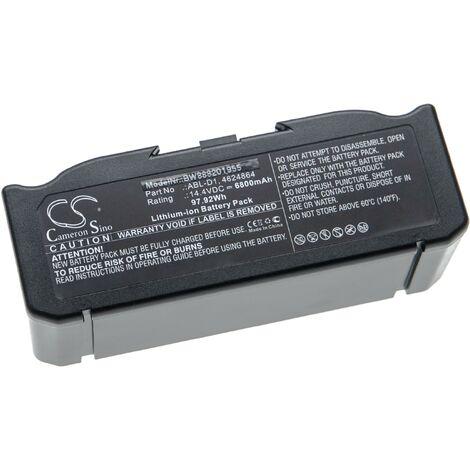 vhbw Batterie compatible avec iRobot Roomba i7158, i7550, i755020, i7558, i8, i8+ robot électroménager (6800mAh, 14,4V, Li-ion)