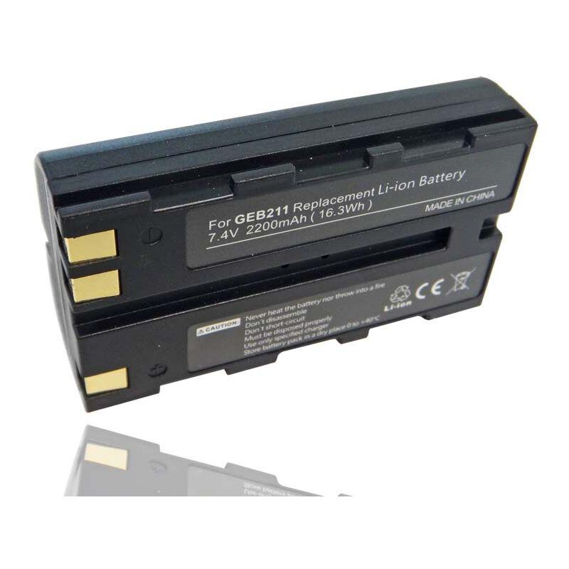 vhbw Batterie compatible avec Leica Flexline TS02, TS06, TS09 dispositif de mesure laser, outil de mesure (2200mAh, 7,4V, Li-ion)