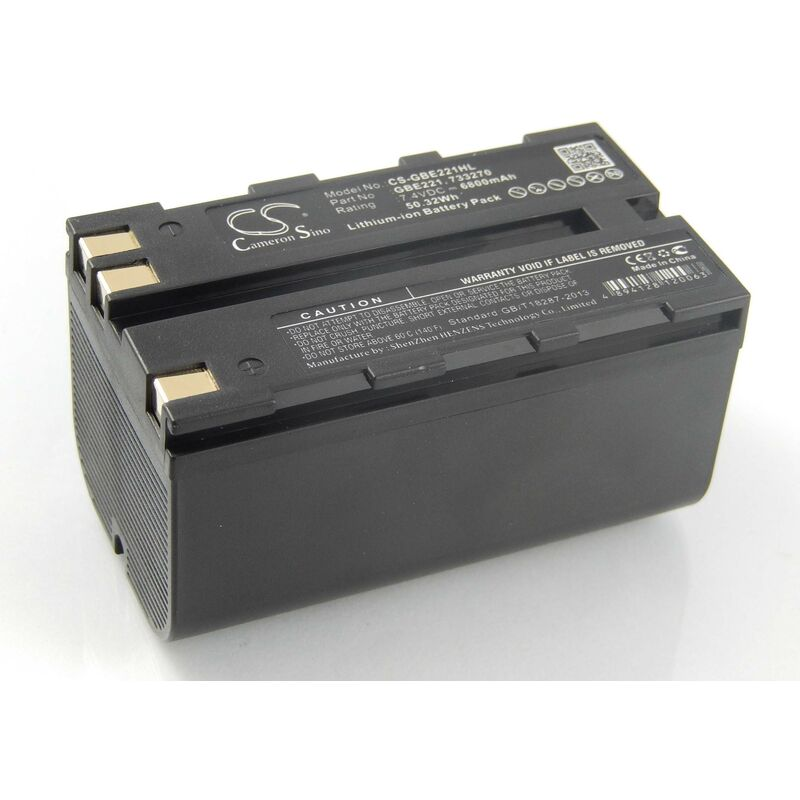 Batterie compatible avec Leica Flexline TS02, TS06, TS09 dispositif de mesure laser, outil de mesure (6800mAh, 7,4V, Li-ion) - Vhbw