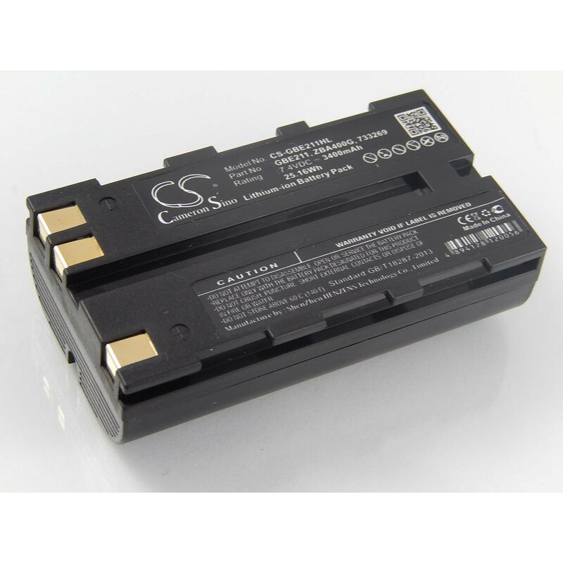 vhbw Batterie compatible avec Leica TS06, TS09, TS11, TS12, TS15 dispositif de mesure laser, outil de mesure (3400mAh, 7,4V, Li-ion)