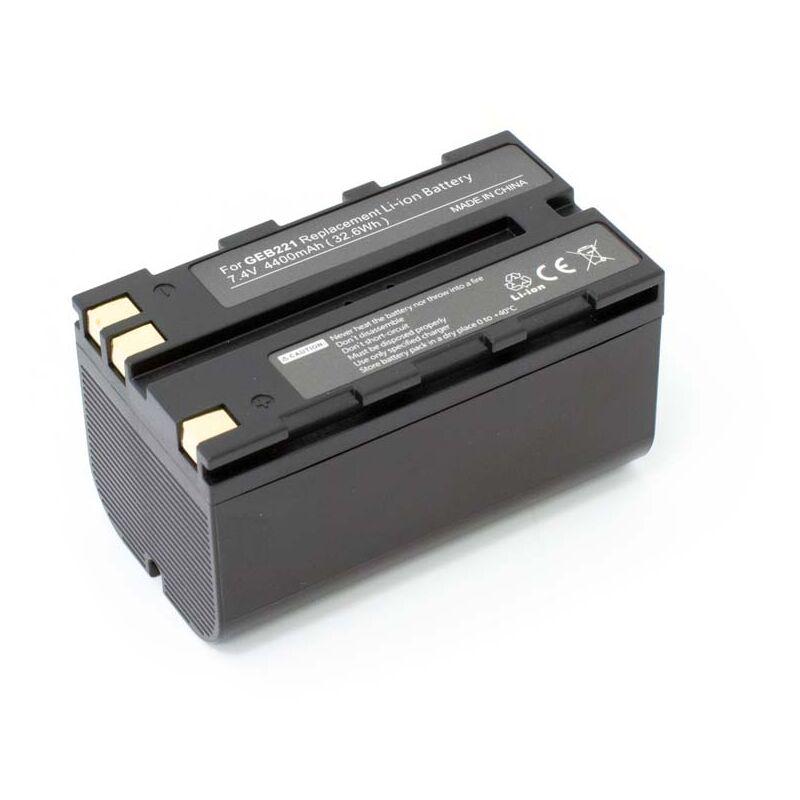 vhbw Batterie compatible avec Leica TS06, TS09, TS11, TS12, TS15 dispositif de mesure laser, outil de mesure (4400mAh, 7,4V, Li-ion)